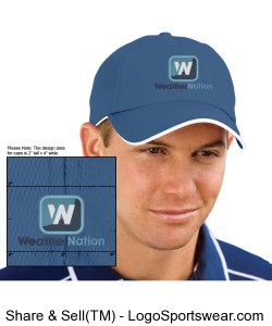 Blue cap with embroidered logo Design Zoom
