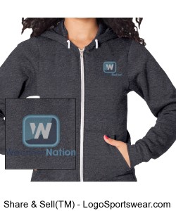 Grey American Apparel Women's Hoodie Design Zoom